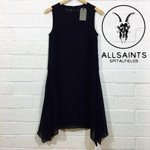 NWT All Saints Lyra LBD Shift Dress Size 4